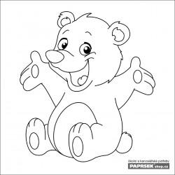 Omalovánka dětská karta 149x149 mm - medvídek