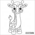 Omalovánka dětská karta 149x149 mm - žirafa