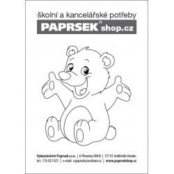 Objednací kartička PAPRSEK® k vymalování - medvídek