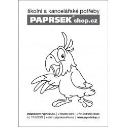 Objednací kartička A6 k vymalování - papoušek