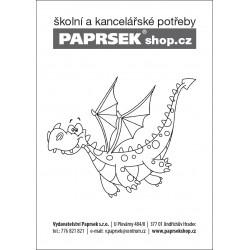 Objednací kartička PAPRSEK® k vymalování - dráček