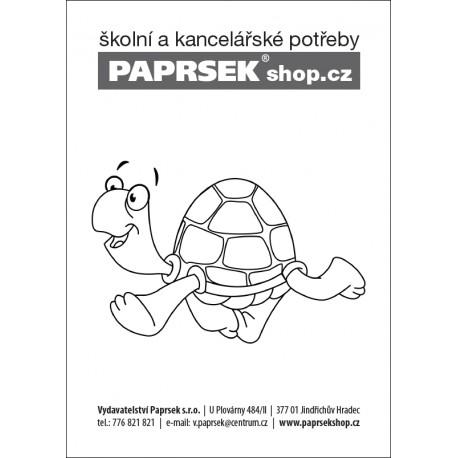 Objednací kartička k vymalování - želvička